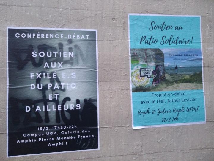 Affiche avec Patio Solidaire