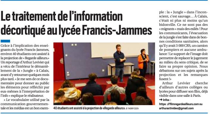 Article La République - Francis-Jammes